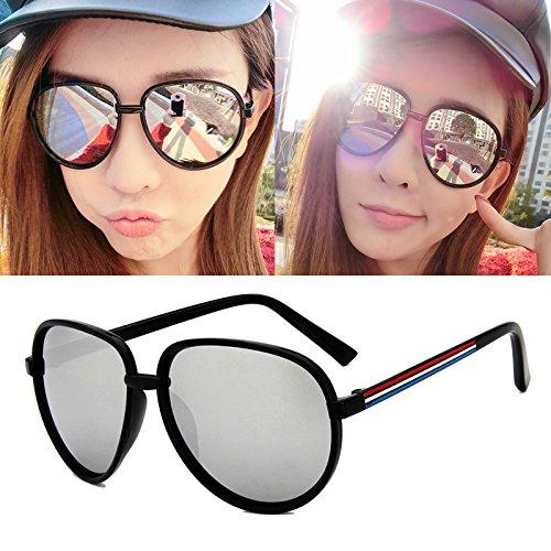 lunettes de soleil mesdames lunettes de soleil les marées les visages star des lunettes vintage de nouveaux styles élégant de personnalités de la corée du sudbright black mercure vert (tissu) nAiWyGx