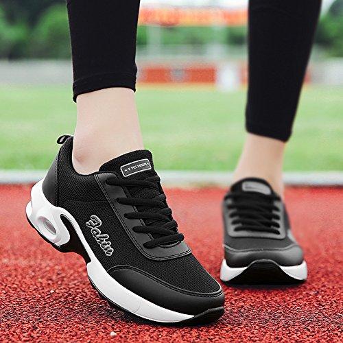 Damen Turnschuhe 35 mit Schwarz Sportschuhe Farben SEECEE Sneaker 5 GR Laufschuhe Atmungsaktiv 42 px0d4