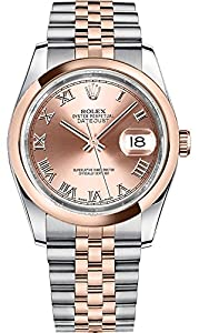 Rolex Datejust 36 116201 Pink Dial with Roman Numerals Luxury Watch