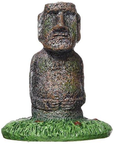 """Bowl Island (Penn Plax RR858 Easter Island Statue Aquarium Resin - 2.5""""H)"""
