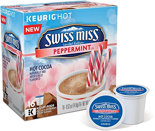 Swiss Miss Peppermint Chocolate Hot Cocoa, Keurig K-Cups, 16 Count