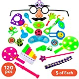 Party Favors for Kids Goodie Bags - 120pc Party Supplies Small Bulk Toys for Birthday Pinata Fillers, Classroom Treasure Box Prizes and Carnival Games