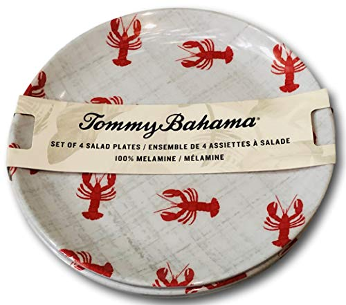 Tommy Bahama Lobster Design Melamine Salad Plates (set of 4)
