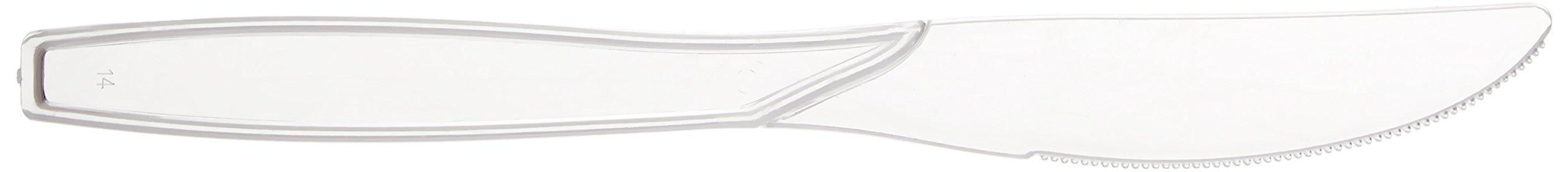 Fineline Settings 100-Piece Extra Heavy Cutlery Knives, Clear by Fineline settings