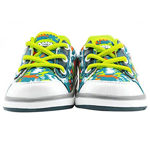 Baby's Choice - Zapatos para bebés con flash de luz, deportivas con dos colores, zapatos para correr para niñas, niños y bebés, zapatillas antideslizantes suaves para bebés y niños rosa Rose Talla:18c verde