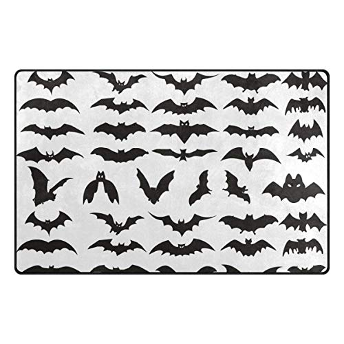 Koperororo Halloween Bat Clip Art Doormats Area Rug Rugs Non-Slip Floor Mat Indoor Outdoor 16 X 24 inch]()