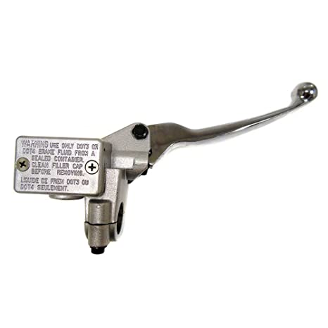 HYDRAULIC BRAKE MASTER CYLINDER *RIGHT* FOR RETRO TYPE CHINESE SCOOTER WITH LEVER AND M10 MIRROR HOLDER GY6 4 STROKE SCOOTER ZNEN LANCE BMS TNG BENZHOU BELLO .....