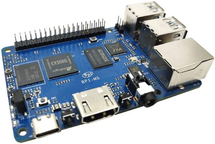 2.0xxGHz Banana Pi M5 SingleBboard Computer con Amlogic S905X3 Quad-Core Cortex-A55 Processore 4 GB LPDDR4 Linux Android