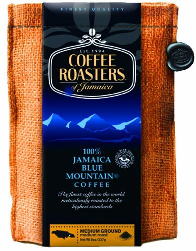 Jamaica Blue Mountain Coffee 16oz/ 1lb Beans, 10 packs by Coffee Roasters of Jamaica