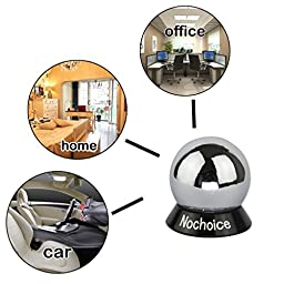 Nochoice Magnetic Car Mount Cell for Phones Big Angle Black (1 Magnet + 2 Balls)