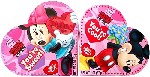 Disney Mickey Mouse & Friends Valentines Mini Heart Shaped Box of Chocolates with Minnie Included !