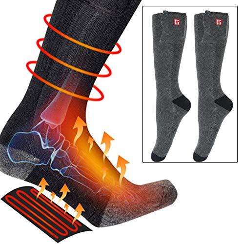 Verwarmde sokken Winter USB Elektrische verwarming Sokken Voetwarmer Batterijgevoede sokken voor skiën Kamperen Wandelen…