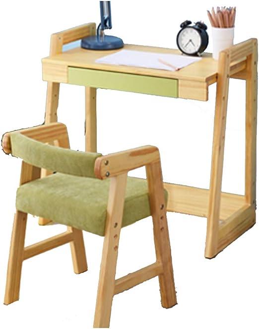 Juegos de mesas y sillas Mesa y silla elevadoras de madera maciza ...