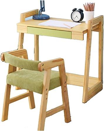 Juegos de mesas y sillas Mesa y silla elevadoras de madera maciza Juego de mesa y
