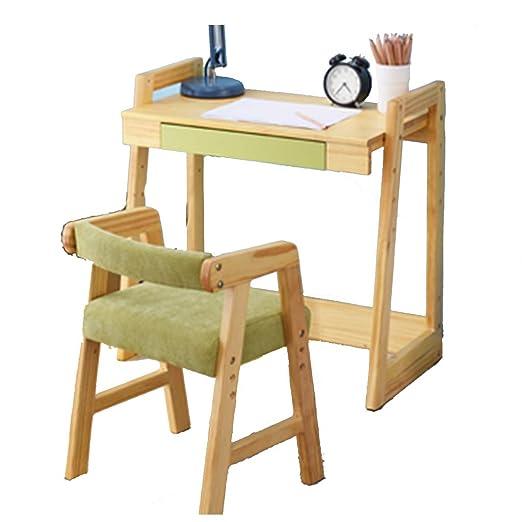 Juego de mesa y sillas de madera maciza para niños, mesa de ...