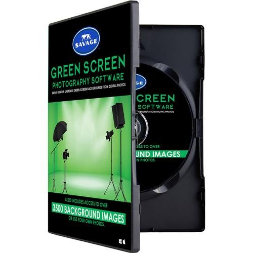 Savage Green Screen Software Kit, Includes 720 Digital Backgrounds, Video Tutorials & Green Screen Wizard Lite ()