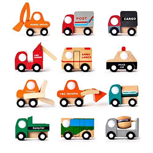 Vktech® Multi-pattern Creative Toys Mini Wooden Car Model Baby Kid Educational Gift