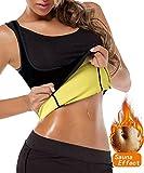 FLORATA Womens Hot Sweat Body Shaper Tank Top Tummy Fat Burner Slimming Sauna Vest Weight Loss Shapewear Black No Zip