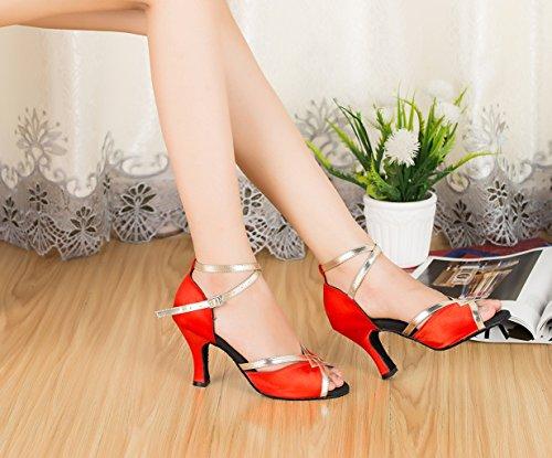 Red Zapatos TDA mujer de tacón wIwOpqUd