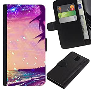 TaiTech / - Summer Sea Stars vibrante Sol - Samsung Galaxy Note 3 III