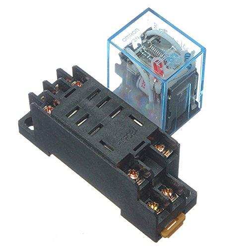 220V 10A Coil Power Relay DPDT LY2NJ HH62P HHC68A-2Z With Socket (220 Coil)