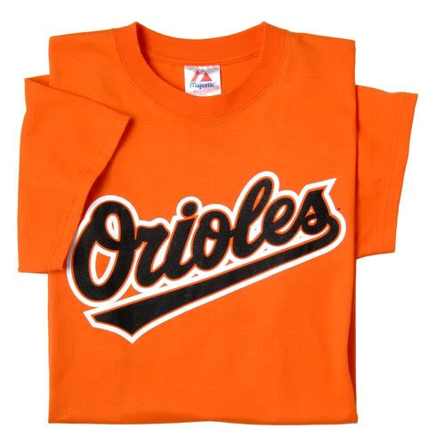 (Baltimore Orioles (YOUTH MEDIUM) 100% Cotton Crewneck MLB Officially Licensed Majestic Major League Baseball Replica T-Shirt Jersey)