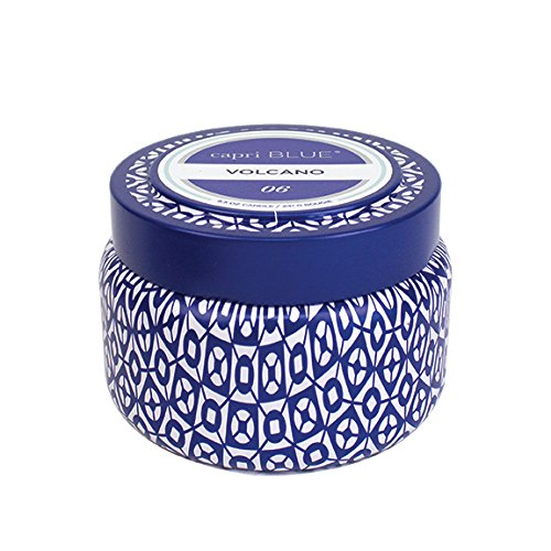 Capri Blue Volcano Printed Travel Tin Candle  8 5 Ounce