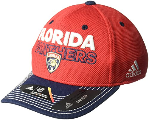 - adidas NHL Florida Panthers Adult Men Pro Authentic Locker Room Structured Flex, Large/X-Large, Red