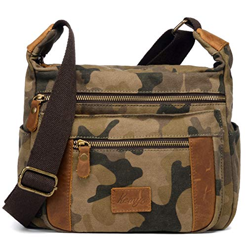 Kemy'sCamo Crossbody Purse for Women Crossover Bag Travel Purses Small Over Shoulder Bags Cross Body Messenger Satchel Medium Unisex Traveling Easter Gift Camouflage Camouflage Canvas Shoulder Bag
