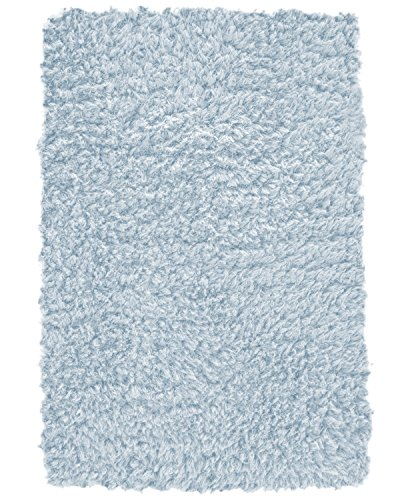 "SoftTwist 17"" x 24"" Waterproof Memory Foam Bath Rug (blue)"