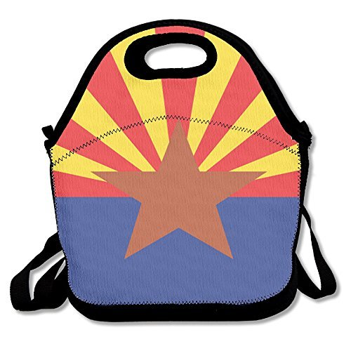 Arizona State Flag Waterproof Lunch Bag Printing Lunch Tote Bag