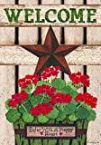 Custom Décor Barn Star Geranium Garden Flag 2672FM