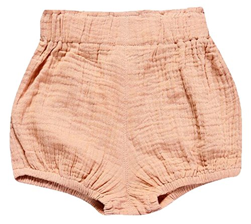 - LOOLY Unisex Baby Girls Boys Cotton Linen Blend Bloomer Shorts Pink 100
