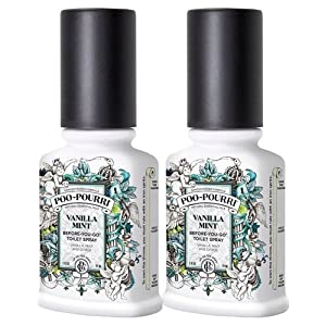 Poo Pourri Vanilla Mint Before You Go Spray,2 Ounce (Pack of 2)