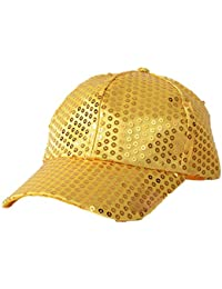 39c0da690faa0 Women Men Shining Sequin Baseball Hat Sequined Glitter Dance Party Cap  Clubwear