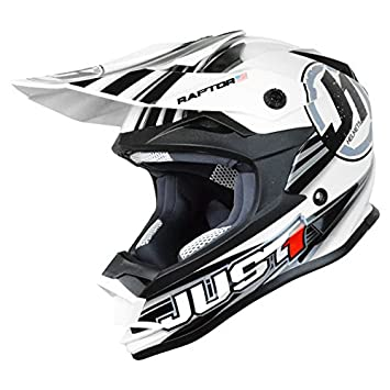 Just 1 Helmets J32 Casco de Motocross, Blanco, YM