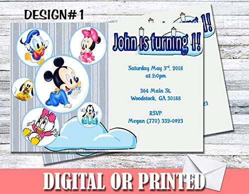 Baby Mickey Friends Mouse Personalized Birthday Invitations More Designs Inside! -