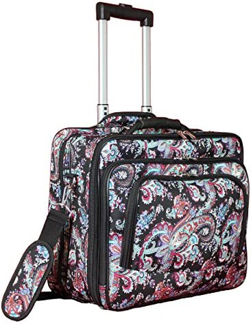 World Traveler Fashion Rolling Case Paisley