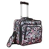 World Traveler Women's Fashion Print Rolling 17' Laptop Case-Paisley Bag, One Size