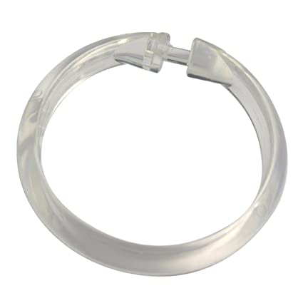 Zenna Home H99K, Plastic Shower Curtain Rings, Clear