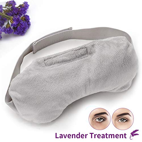 OriHea Lavender Eye Mask for Puffy Eyes, Aromatherapy Eye Pillow, Weighted Sleep Eye Mask for Women & Men, Hot/Cold Therapy Eye Cover for Yoga, Headache, Migraine Relief, Sinus Pain.