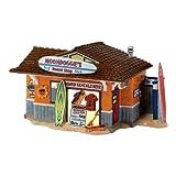 Department 56 Snow Village Moondoggie's Board Shop Lit Building