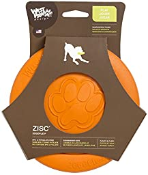West Paw Design Zogoflex Zisc Guaranteed Tough Flying Disc Dog Play Toy, 8.5-Inch Large, Tangerine