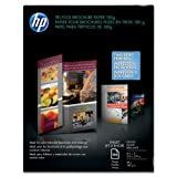 Wholesale CASE of 10 - HP Glossy Tri-Fold Brochure Paper-Tri-Fold Brochure Paper,Glossy,8-1/2''x11'',48Lb,100 Sheets,WE