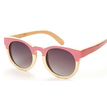 Adult Eyewear Marco de bambú hecho a mano lindo gafas de sol polarizadas para las mujeres