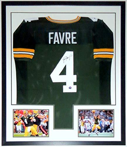 Brett Favre Signed Greenbay Packers Jersey - Brett Favre COA & Photograph Authenticated - Professionally Framed & 2 8x10 Photo ()