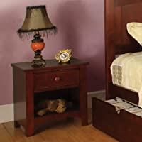 Miles 1 Drawer Nightstand Finish: Cherry