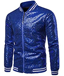 Sequin Long Sleeve Casual Zipper Jacket