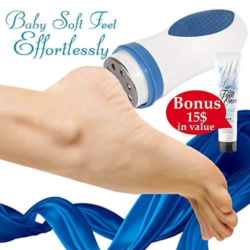 ith Electric Callus Remover Pedicure Device Skin Smoother Home Foot Care Callus Shaver Body Peeling Tool Foot File Feet Scrubber Dead Skin Remover +European Foot Cream + E-Book ()