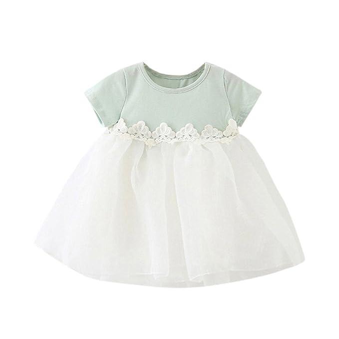 Carolui Baby Dress - Ropa de Bautizo - para bebé niña Verde ...